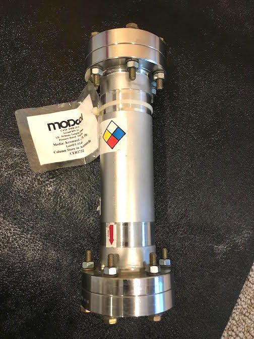 Modcol Stainless Steel HPLC Column ID 50.8mm x 250mm, Rated at 2000Psi