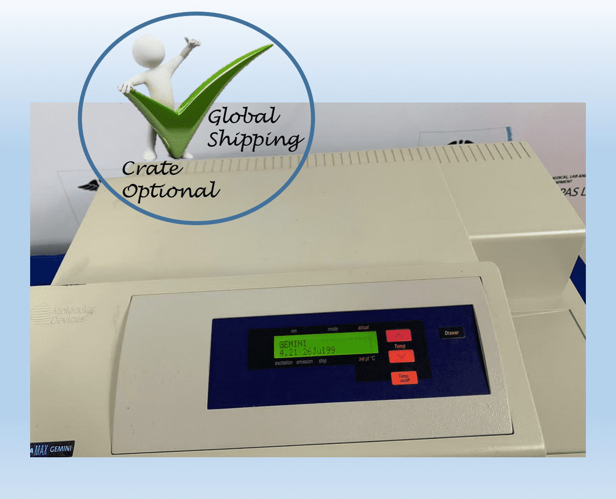 Molecular Devices Spectro Max Gemini Microplate Spectrophotometer.