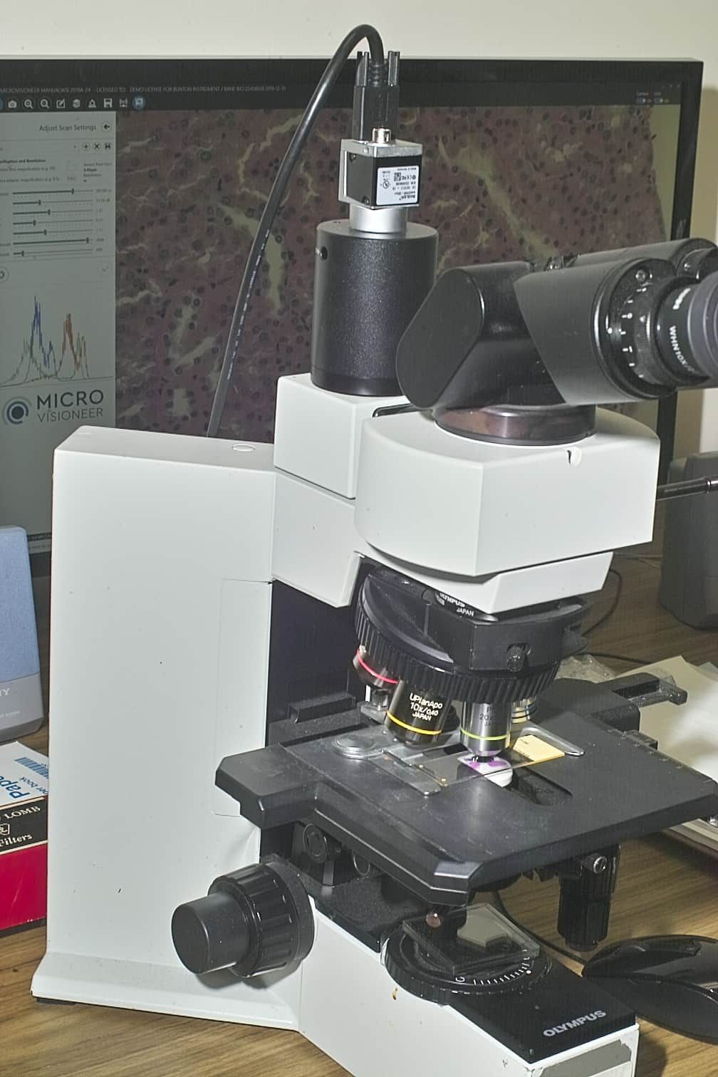 MICROSCOPE VIRTUAL IMAGE STITCHING SOFTWARE AND GLOBAL SHUTTER COLOR CAMERA