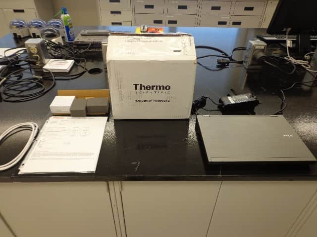 ThermoFisher NanoDrop 1000 UV/VIS Spectrophotometer-New Calibration Fluid Testing