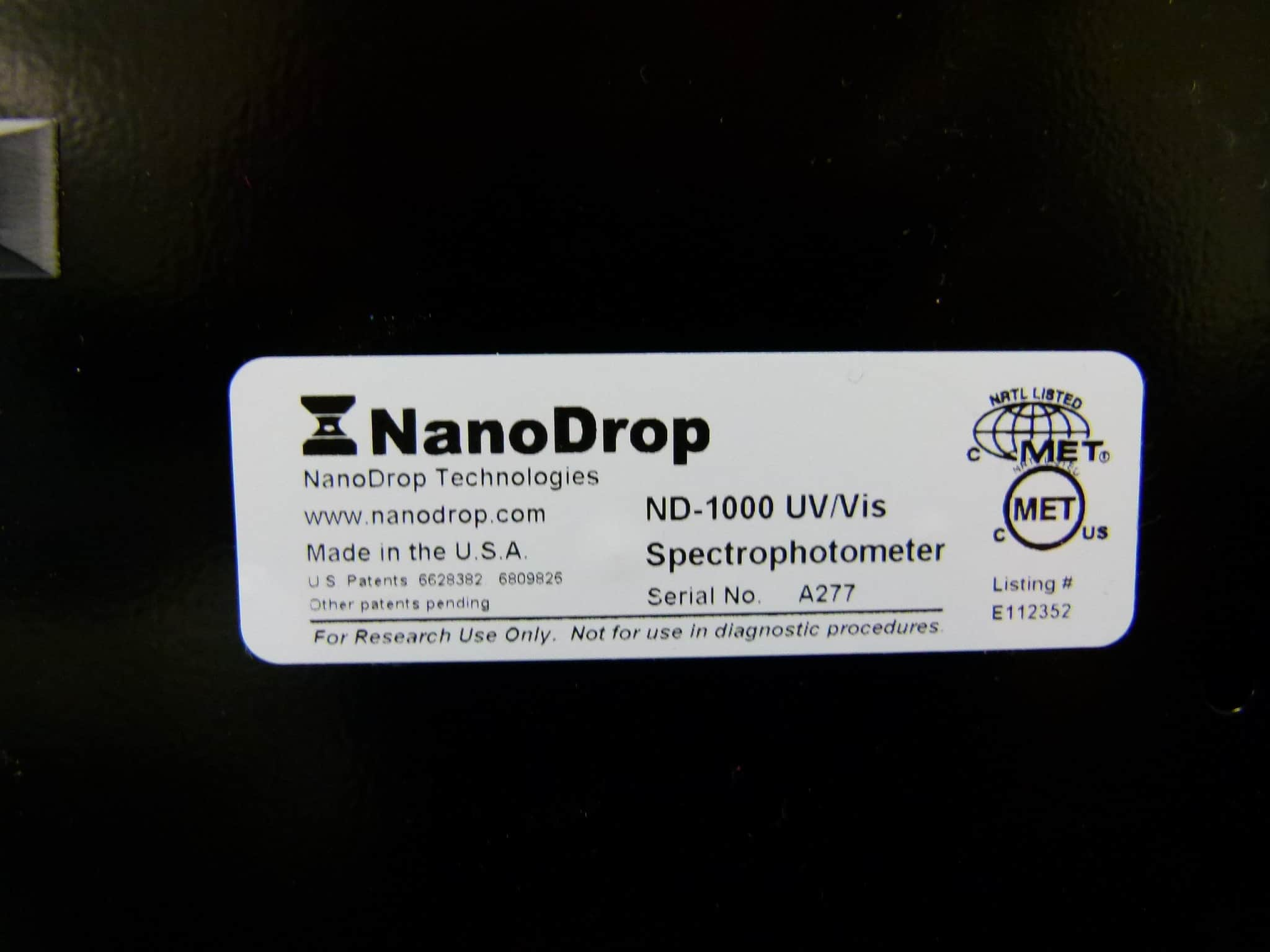 NanoDrop ND-1000 Bench-top Micro UV/Vis Spectrophotometer
