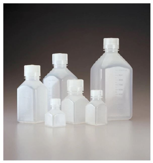 Thermo Scientific Nalgene™ Square Narrow-Mouth PPCO Bottles with Closure