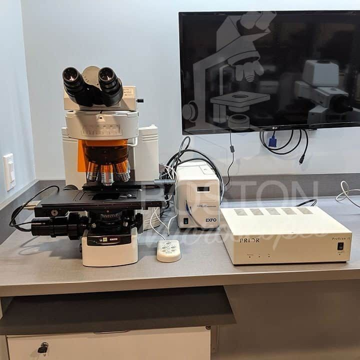 Nikon Eclipse 80i Trinocular Fluorescence Motorized Upright Microscope