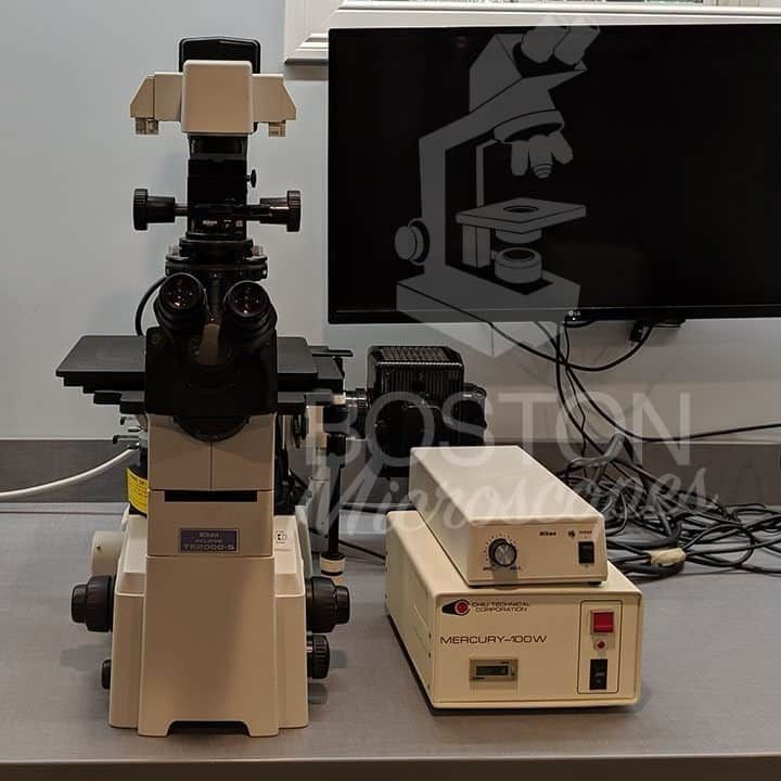 Nikon Eclipse TE 2000-S Phase Contrast Polarization Fluorescence Inverted Microscope