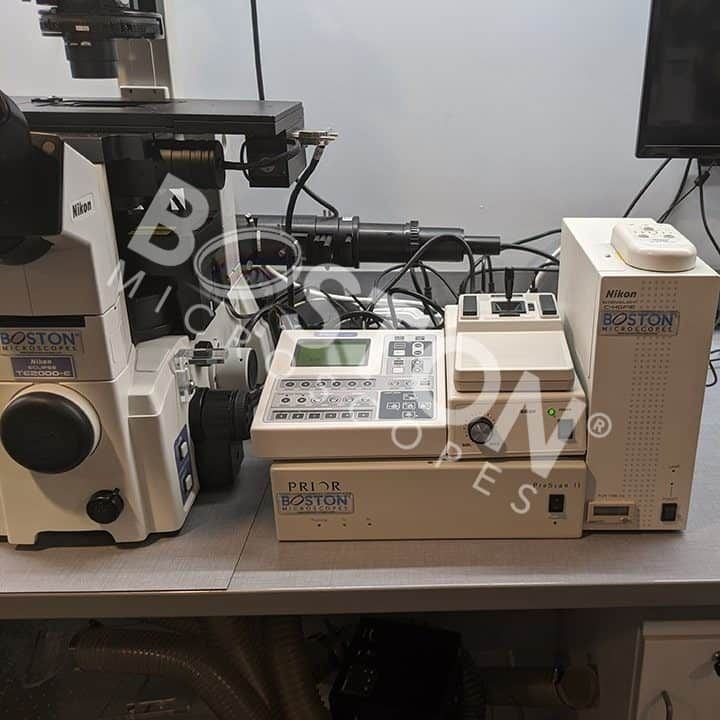 Nikon Eclipse TE 2000-E Motorized Phase Contrast Fluorescence Inverted Microscope with Perfect Focus