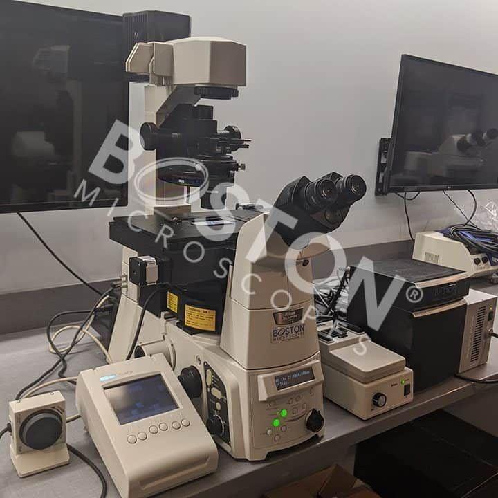 Nikon Eclipse Ti-E Motorized Inverted Phase Contrast Fluorescence Microscope w/ Perfect Focus