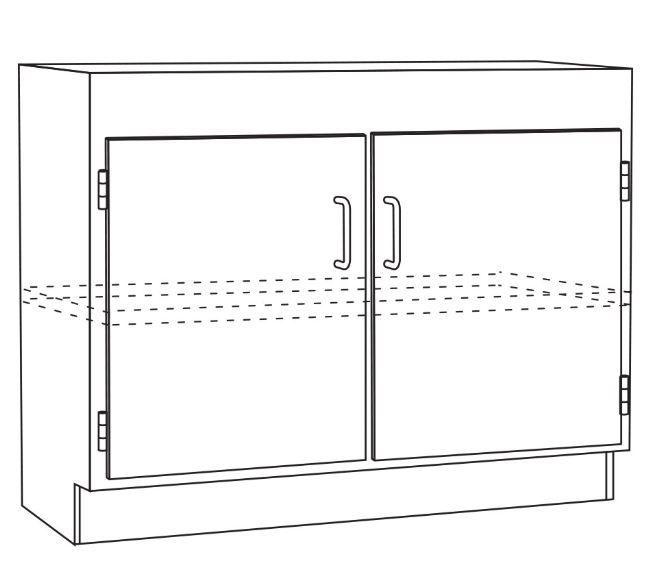 NuAire ProGard NU-46 Double Door Sink Unit with Shelf