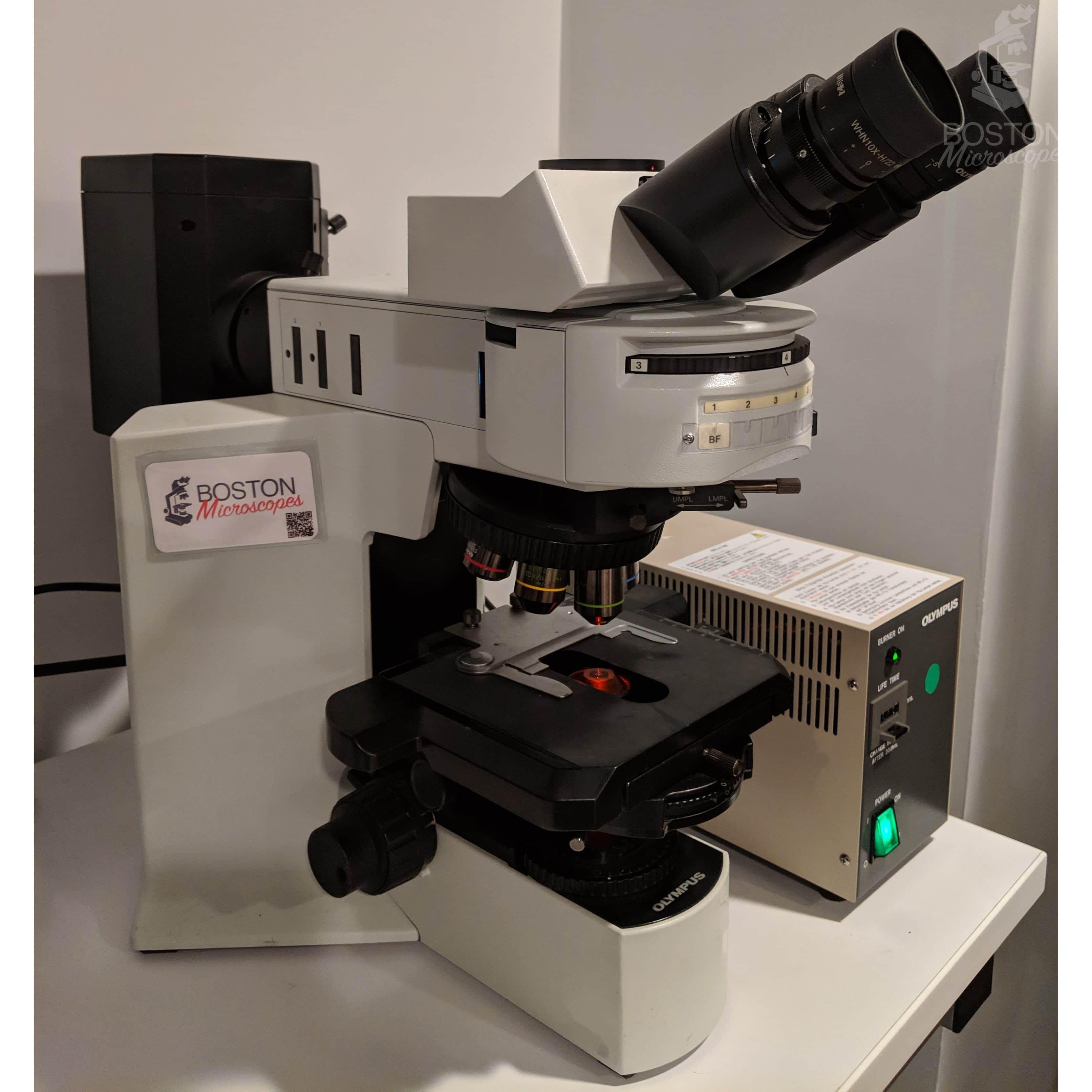 Olympus BX51 Trinocular Phase Contrast Fluorescence Upright Microscope w/ Polarizer and Analyzer