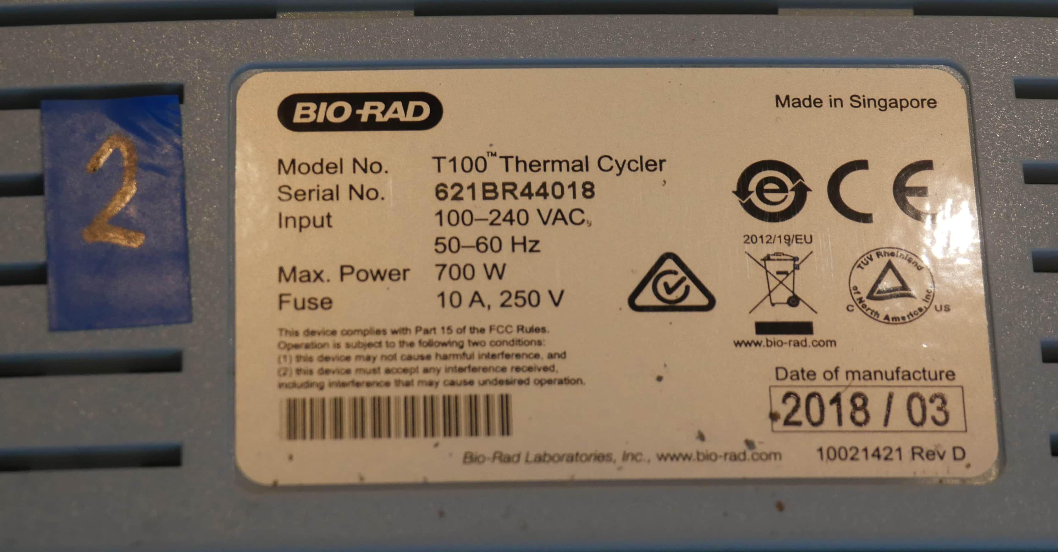 6 Bio-Rad T100 Thermal Cycler 2018 / 2 POWERPAC BASIC NEW / ACCESSORYS