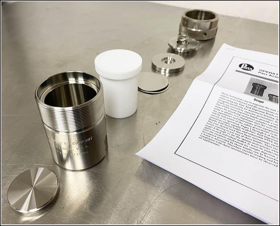 Parr Acid Digestion Bomb 4749 w WARRANTY
