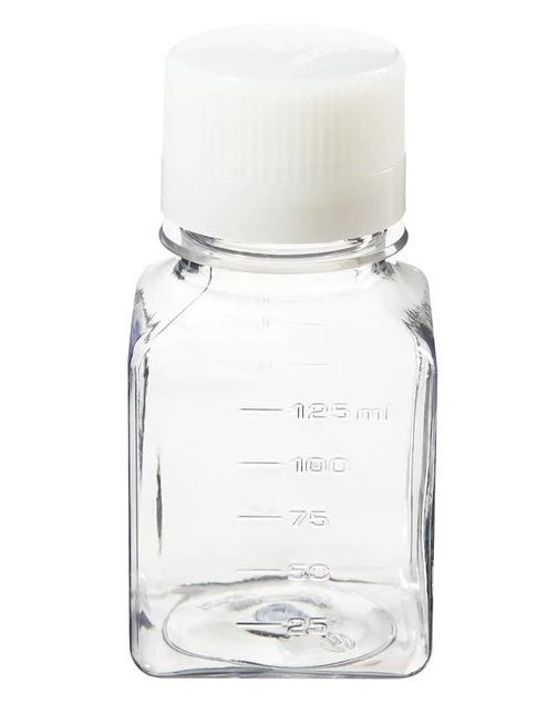 Thermo Scientific Nalgene™ Square PET Media Bottles with Closure: Sterile, Shrink-Wrapped Trays