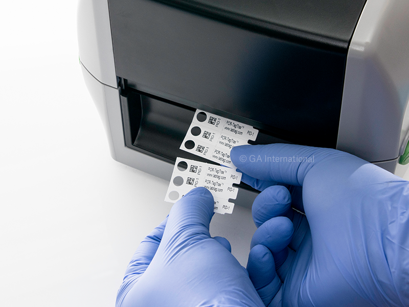 Non-Adhesive Thermal-Transfer Tags for PCR Tubes & Tube Strips