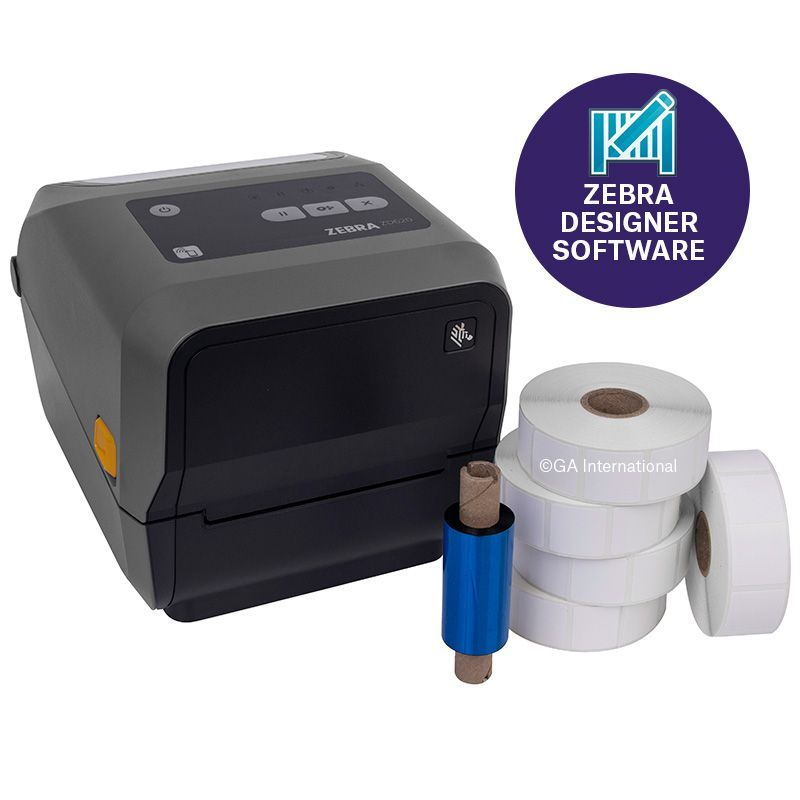 Zebra ZD620t Printing Kit with Professional 3 Software