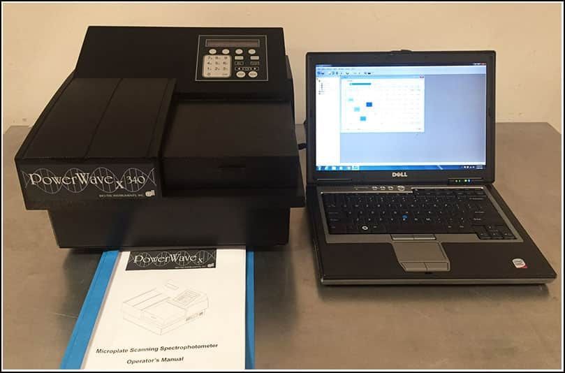 Bio-Tek PowerWave X340 Microplate Reader w Gen5 Incubation Shaking w Warranty