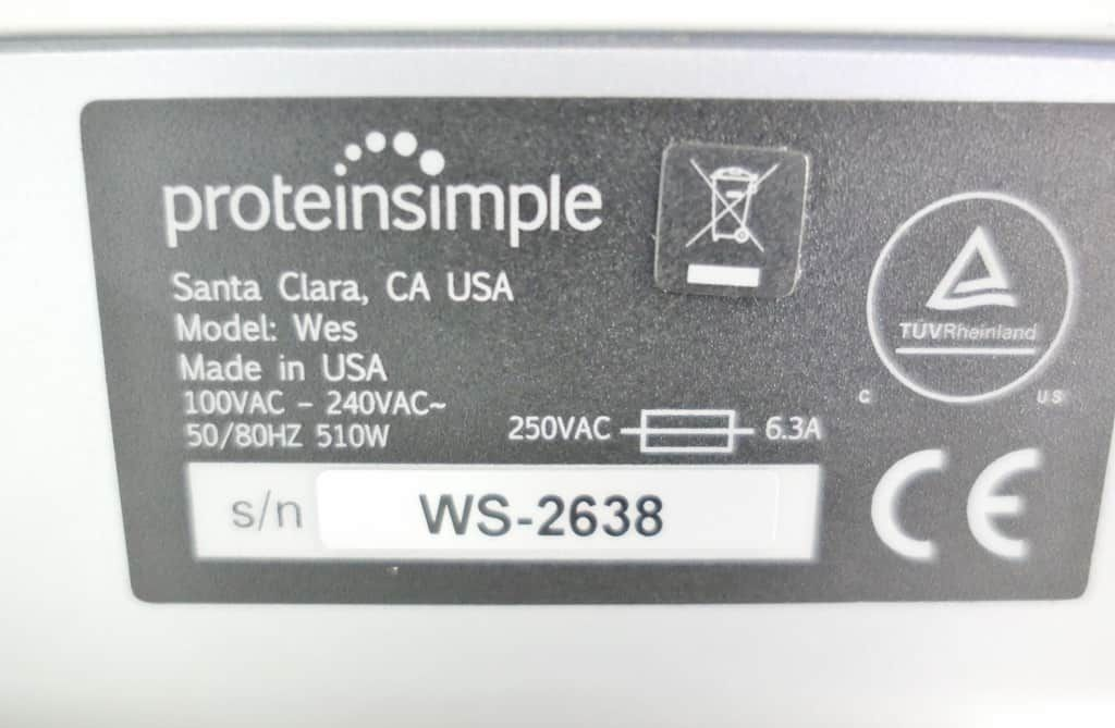 Protein Simple Wes Simple Western Blot System with Warranty