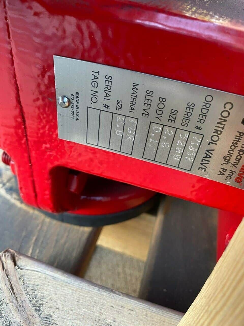 "Red Valve Control Valve 5200 Series 2"" BRAND"