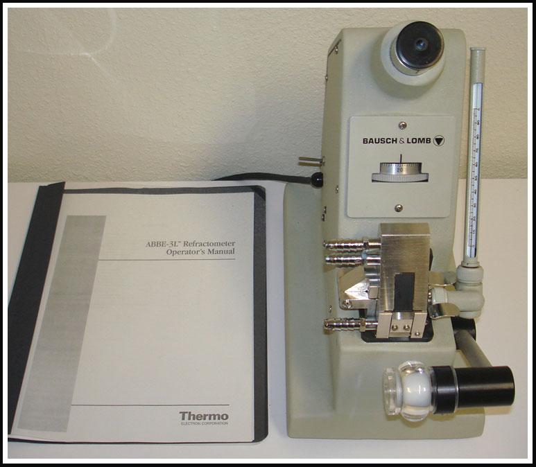 Abbe 3L Refractometer Bausch & Lomb Fisher Spectronics W WARRANTY