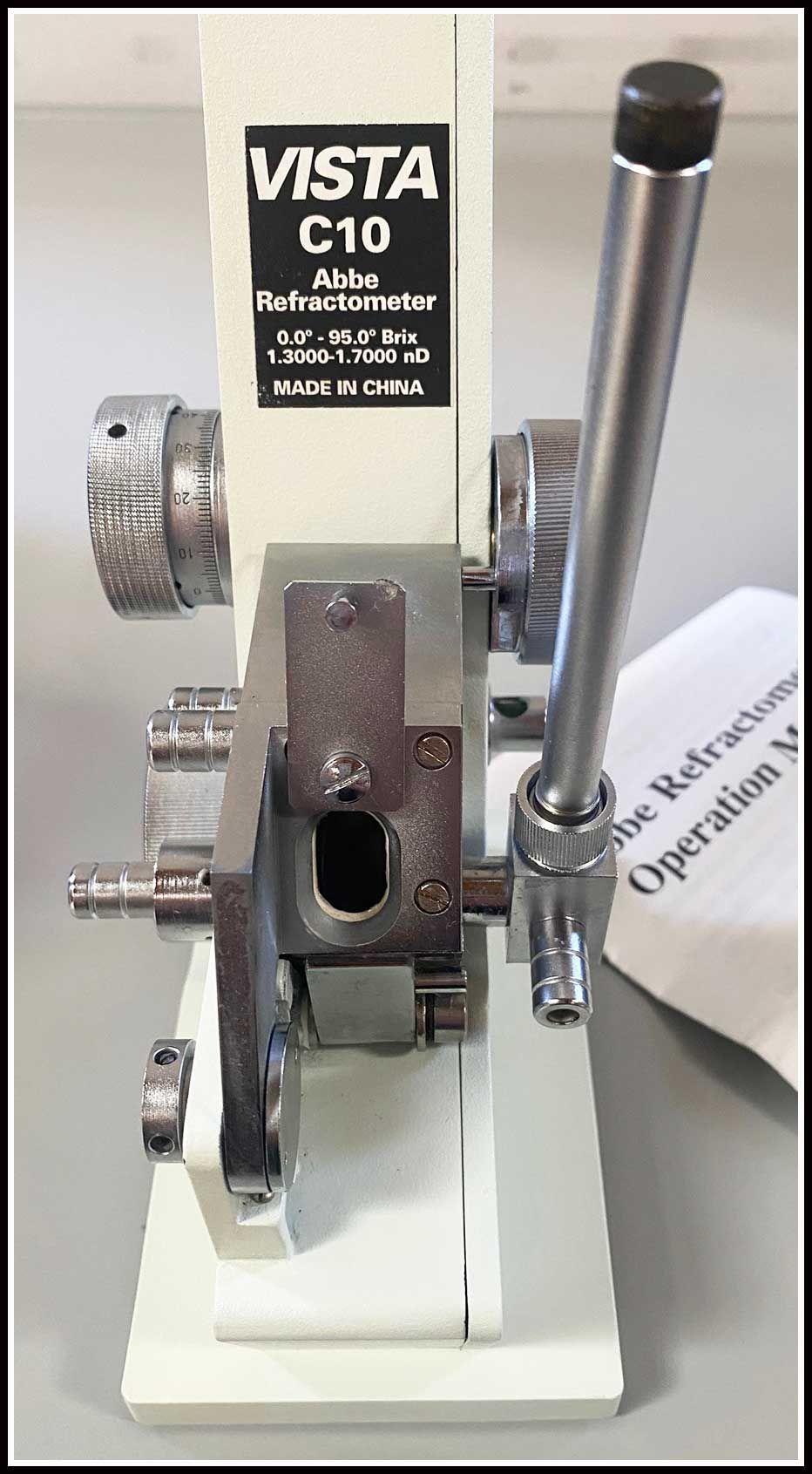 VEEGEE Scientific Abbe C10 Refractometer w WARRANTY
