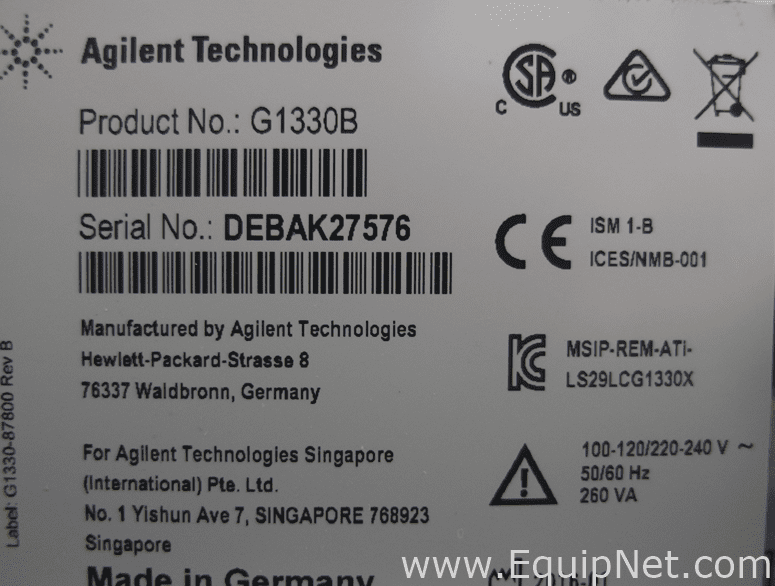 Fully Refurbished Agilent 1260 Infinity HPLC System with 1290 Infinity Thermostat