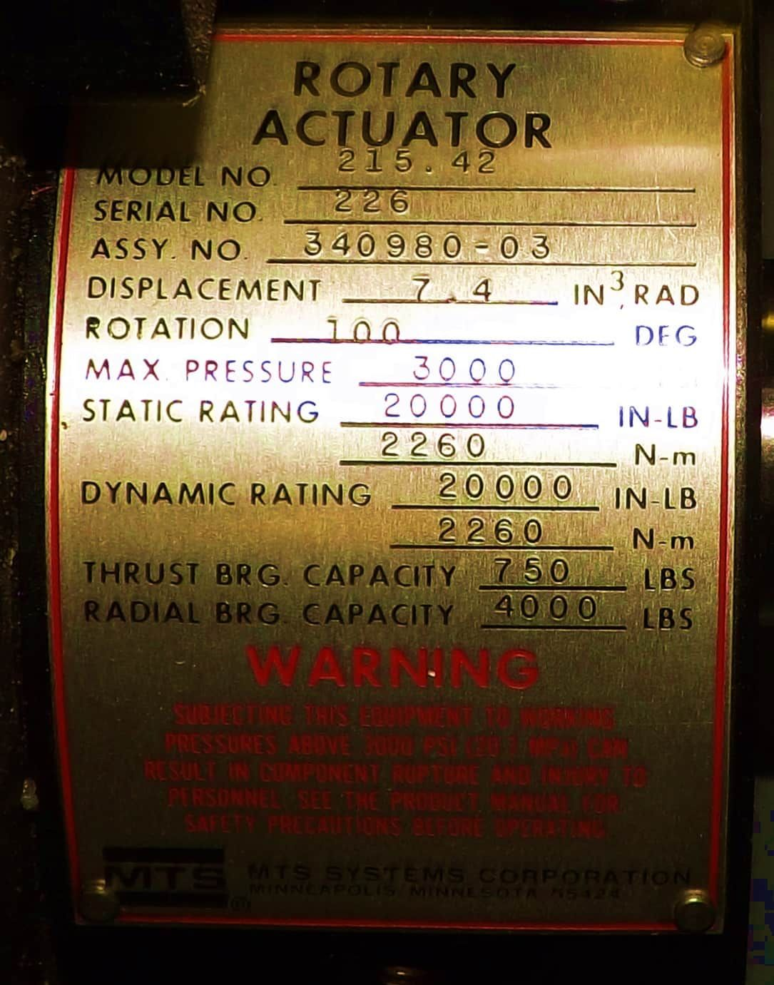 MTS Axial Torsion Frame