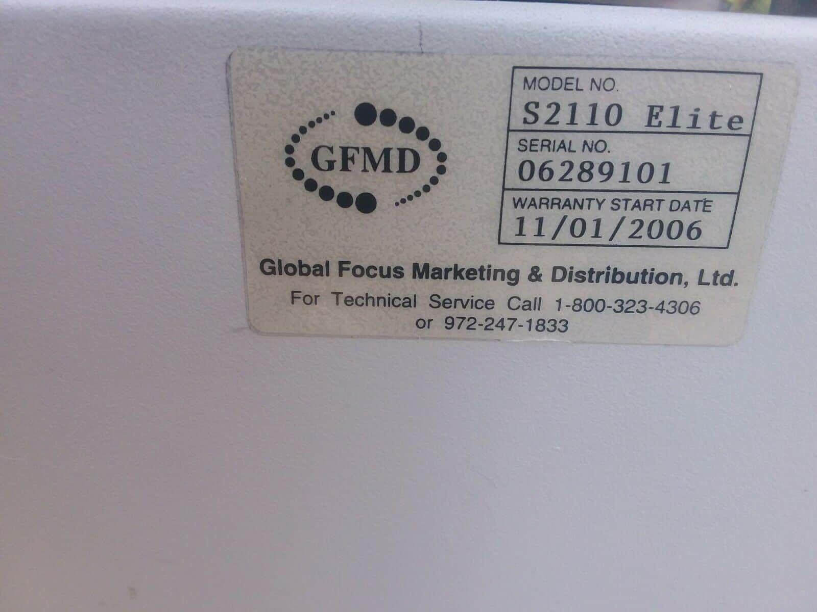GLOBAL FOCUS MARKETING SILENCER 2110 ELITE S2110E Centrifuge System GFMD