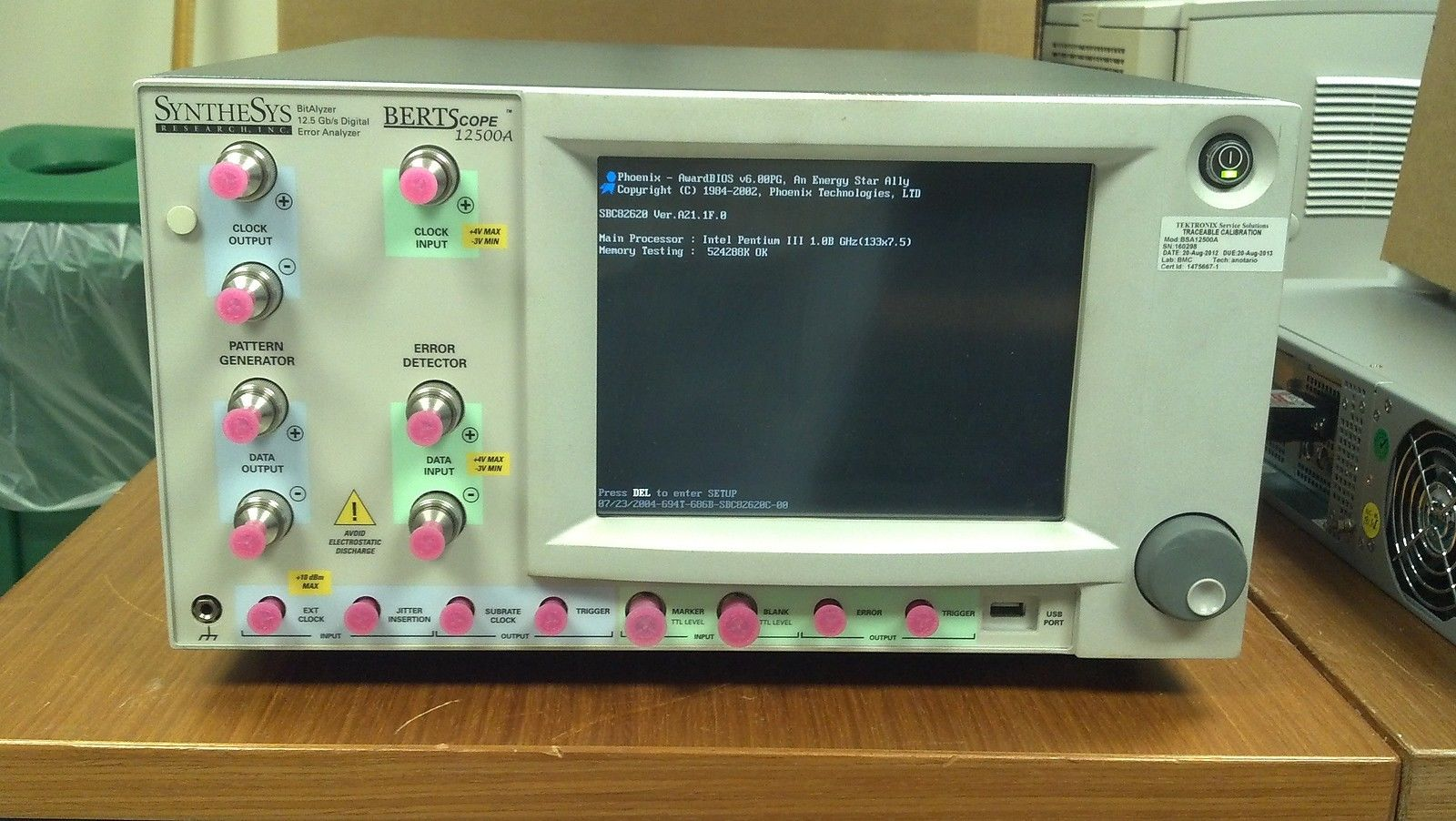 Tektronix BERTScope BSA12500A 12.5 Gb/s