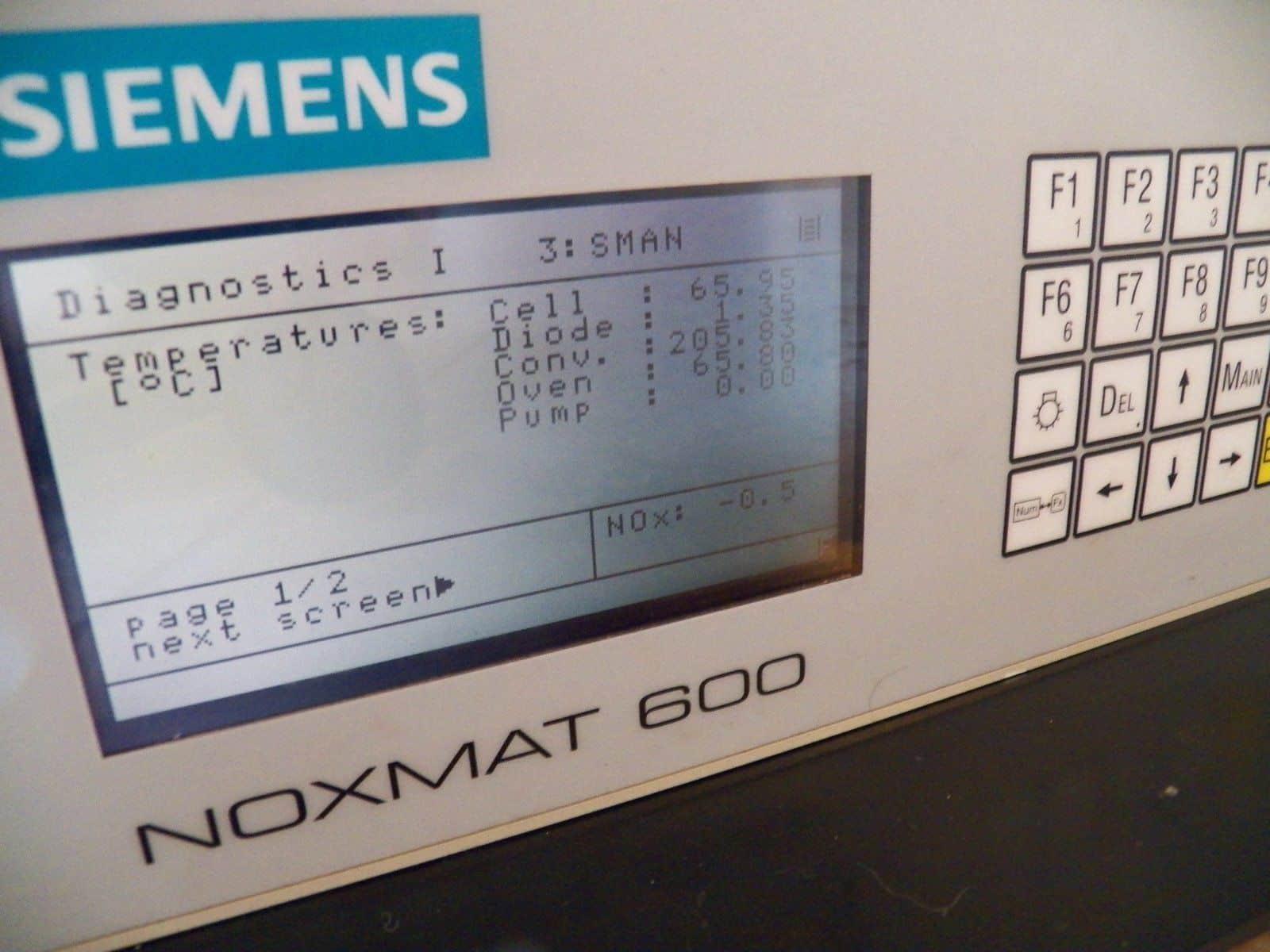 Siemens NOXMAT 600 NO NOx Gas Analyzer.  0-1 ppm up to 0 -3000 ppm