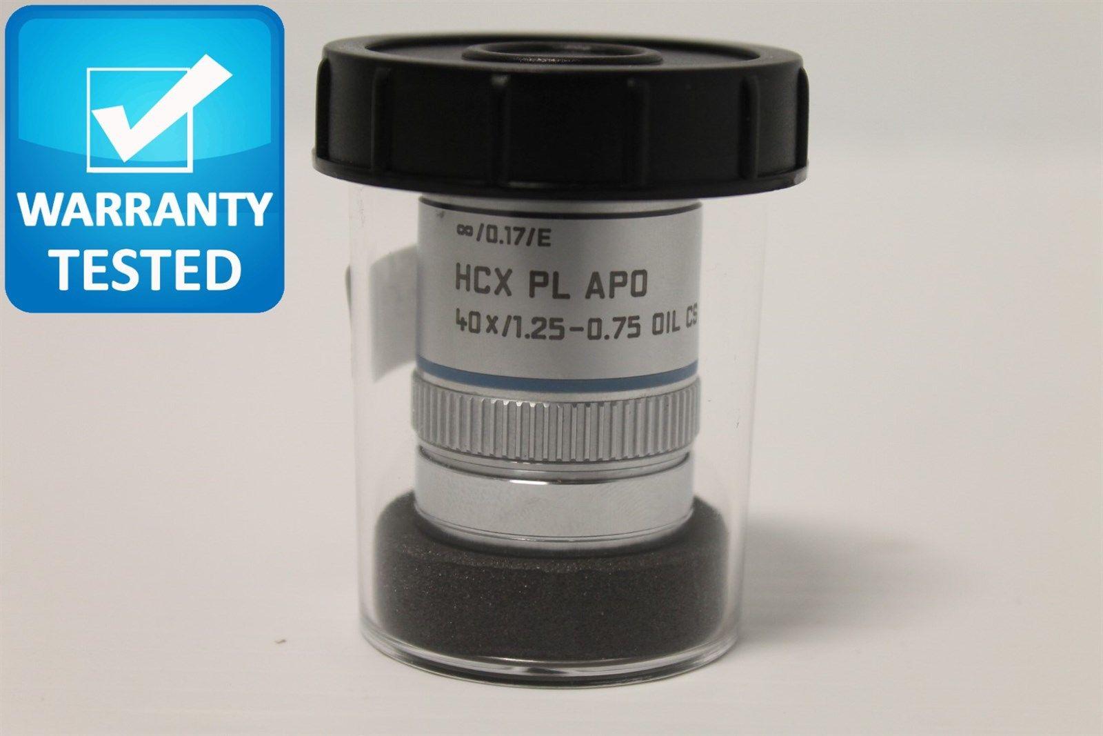 Leica HCX Plan Apo 40x/1.25-0.75 OIL CS [infinity]/0.17/E Objective 506179