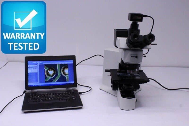 Olympus BX51 Microscope Brightfield Transmitted/Reflective w/Darkfield