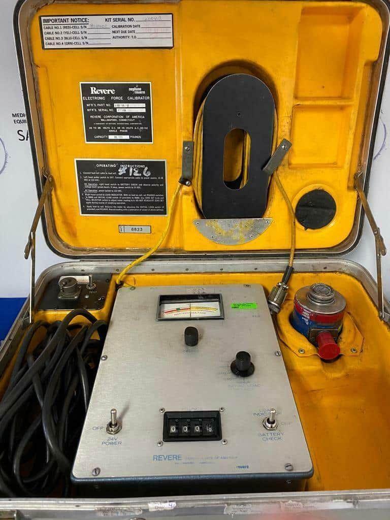 Revere Aircraft Electronic Load Cell Calibrator 25,000 lbs