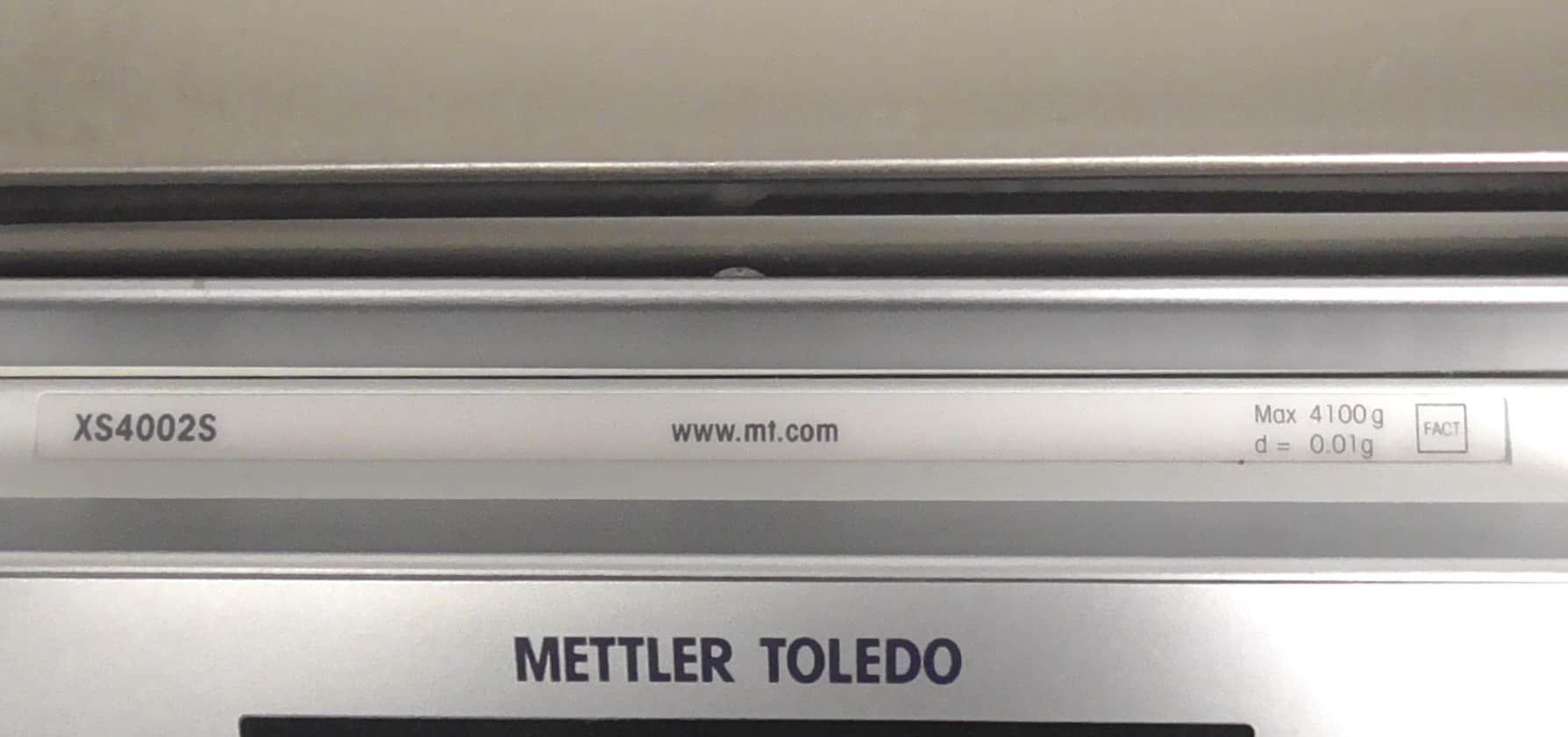 Mettler Toledo XS4002S Balance