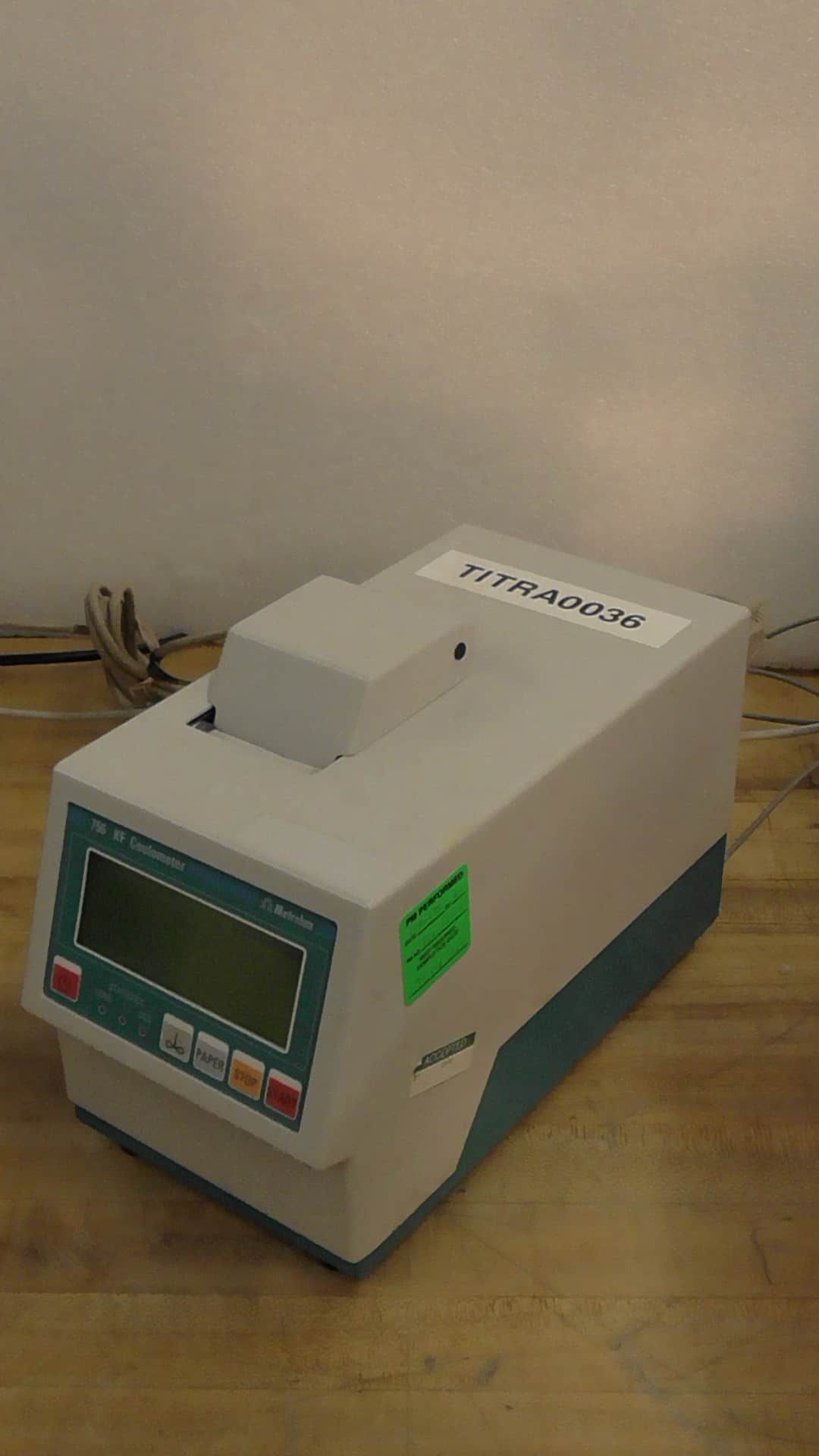 Metrohm 774 Oven Sample Processor with 845 Dosing Interface, 756 KF Coulometer System