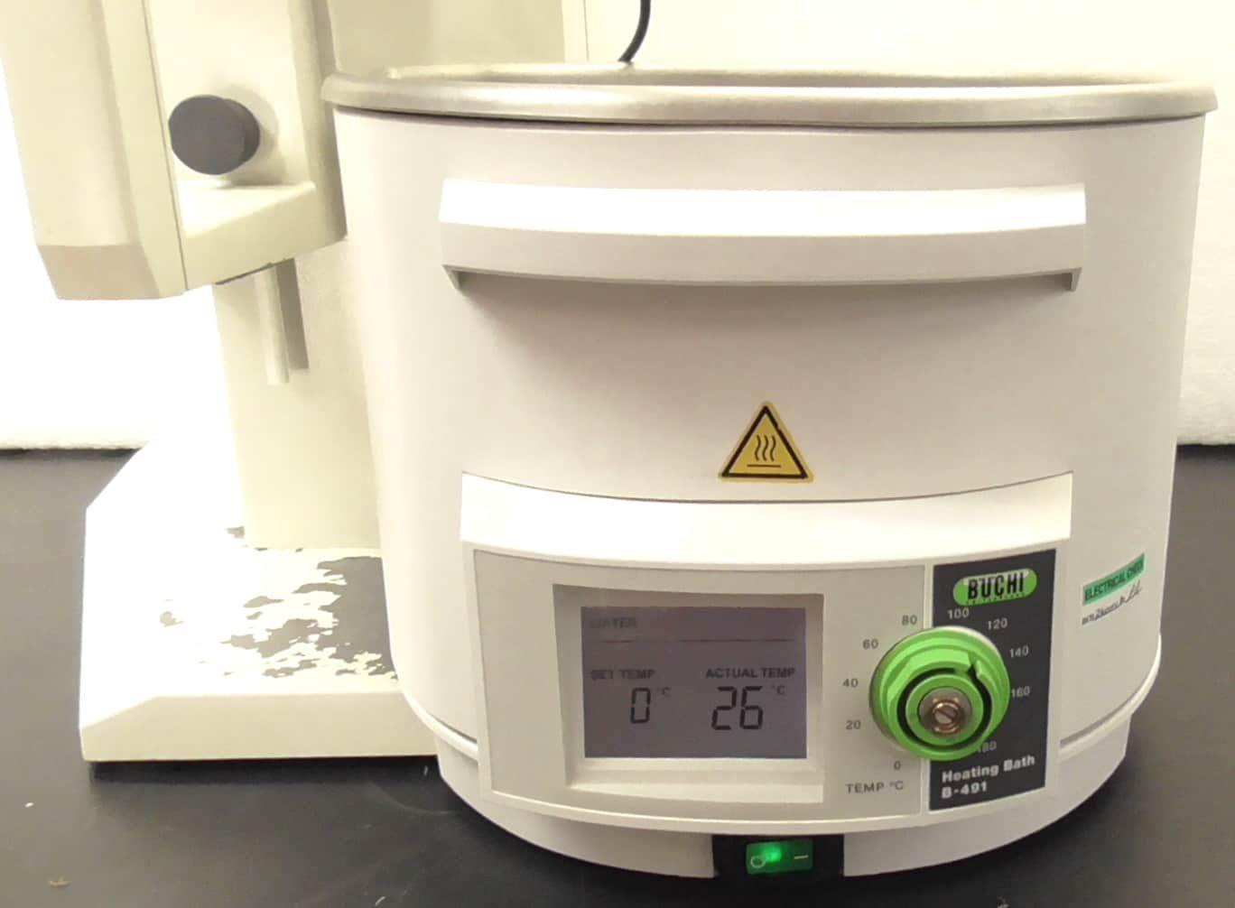 Buchi R-215 Rotary Evaporator with B-491 Heating Bath and V-855 Vacuum Controller