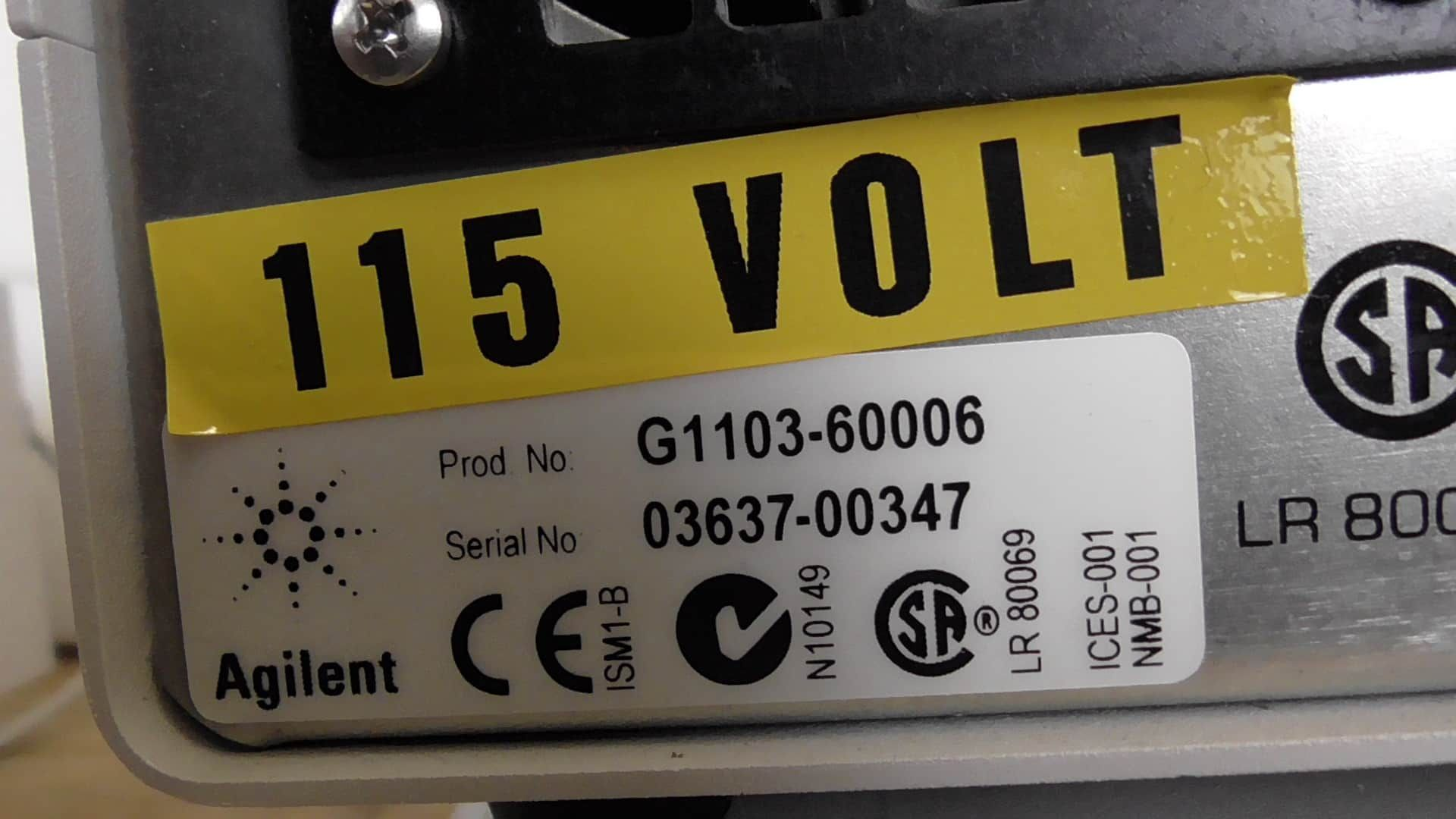 Agilent 8453 G1103A UV-Vis Spectrophotometer