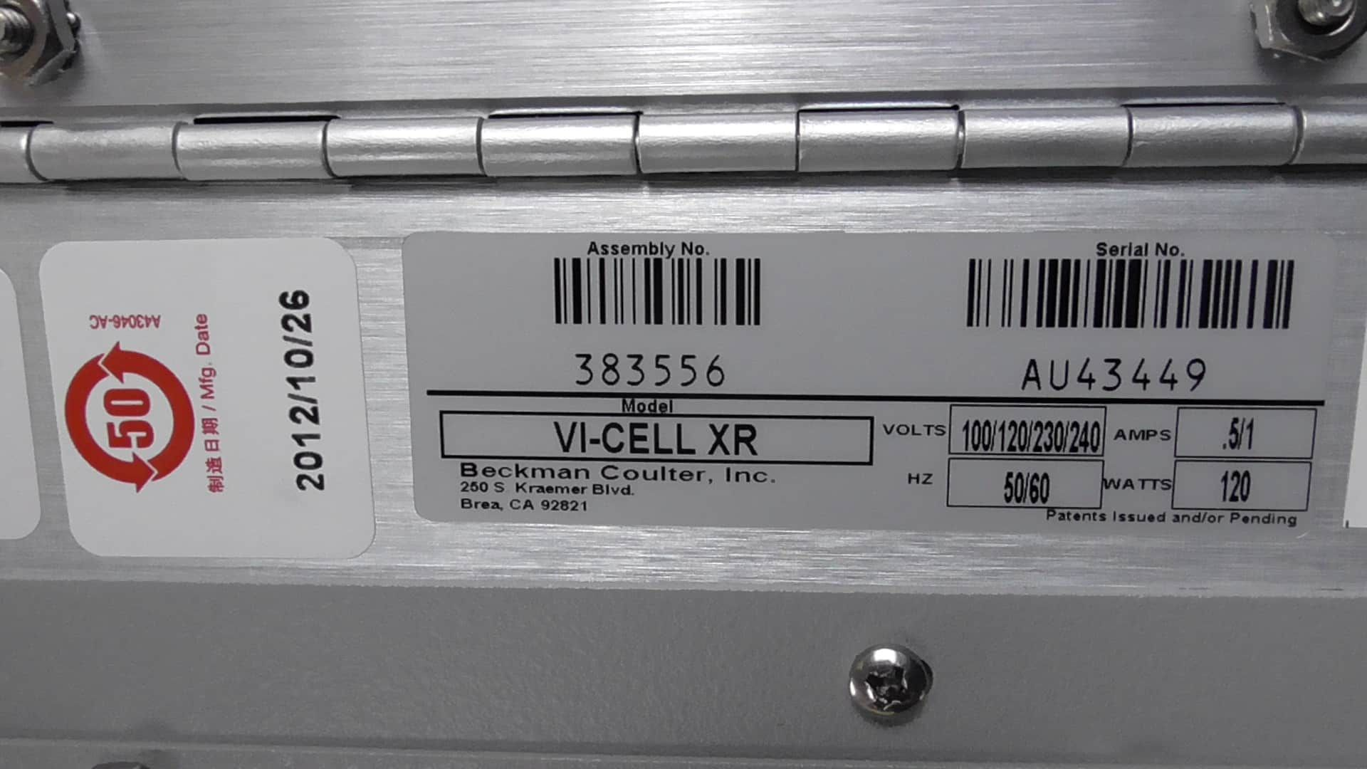 Beckman Coulter Vi-Cell XR Cell Viability Analyzer