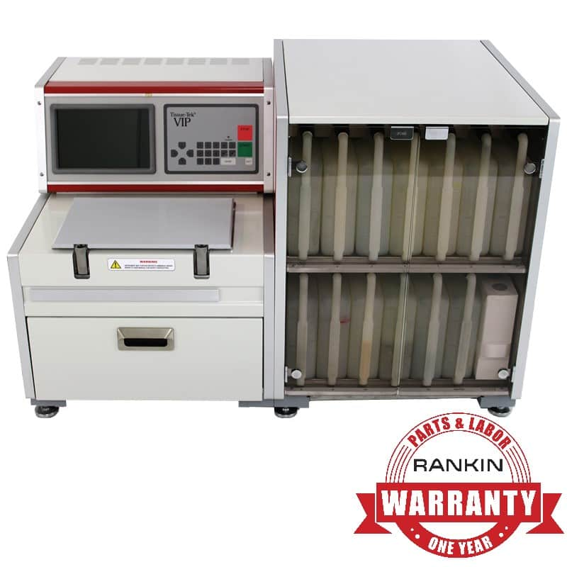 Sakura VIP E150 Tissue Processor | Rankin 1-Year Parts & Labor Warranty