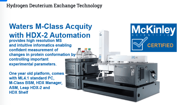 Waters Acquity M-Class with HDX-2 Automation