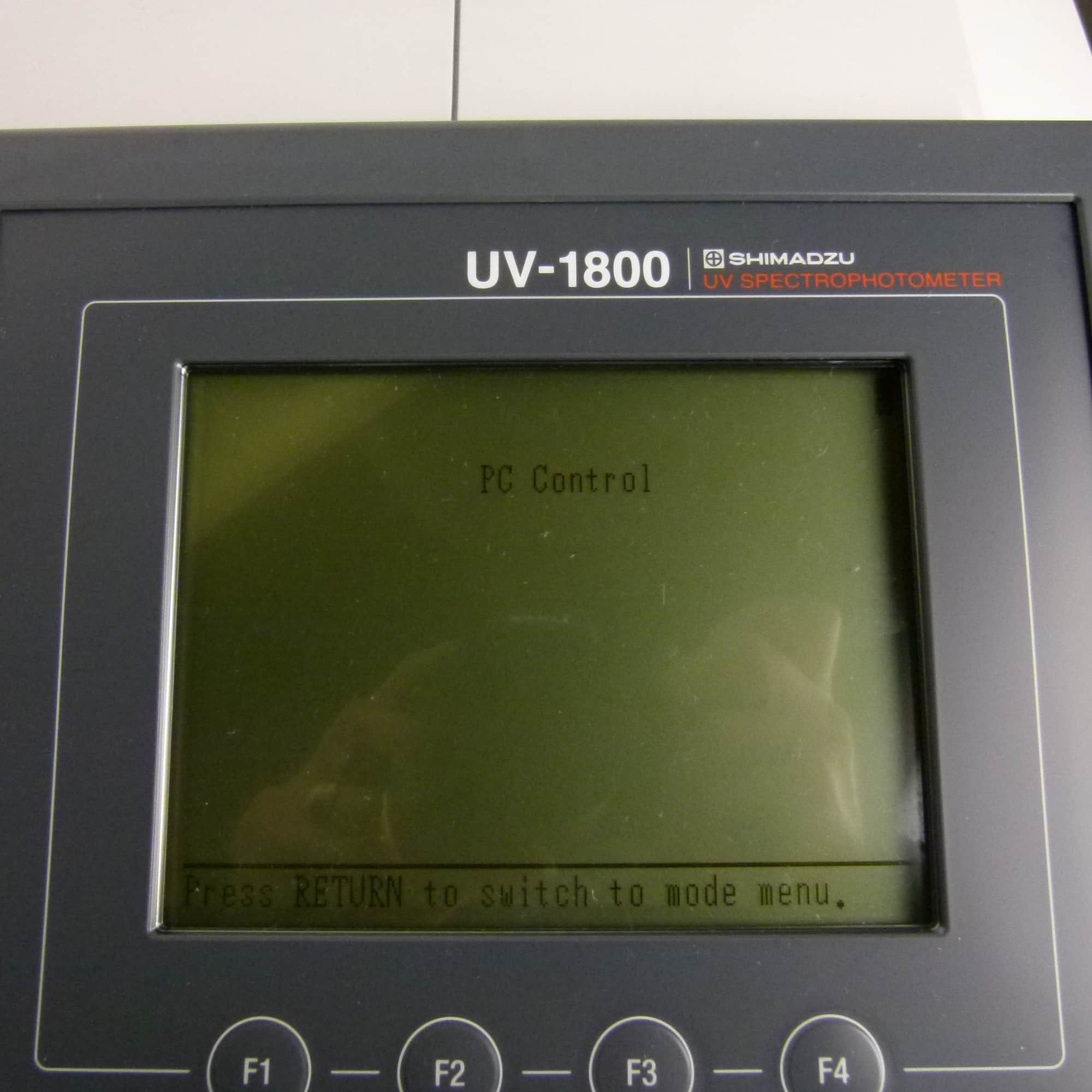 Shimadzu UV-1800 UV-Vis Spectrophotometer with Computer/Software
