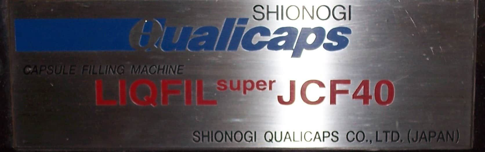 Qualicaps JCF40 Automatic Capsule Filler Auger Driven Automatic Capsule Filler