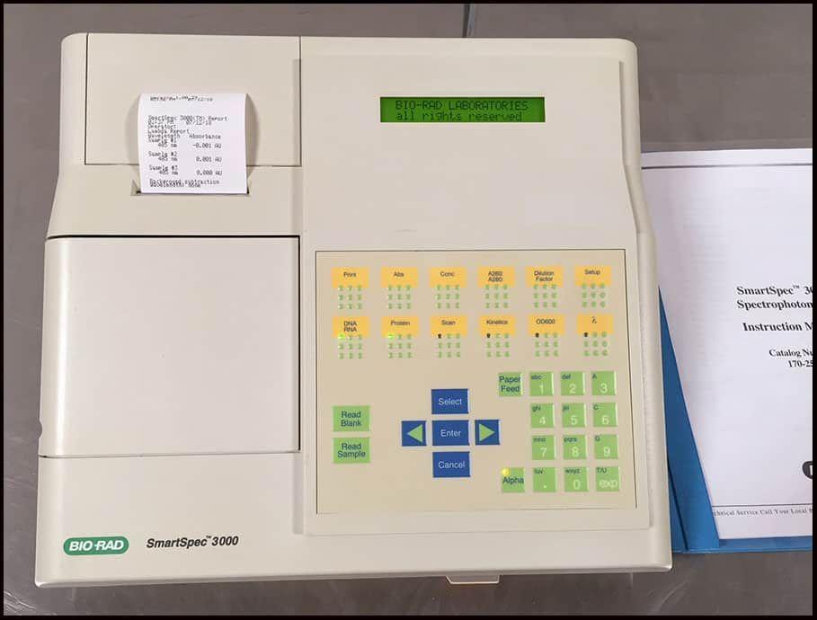 Bio-Rad SmartSpec 3000 UV/Vis Spectrophotometer w WARRANTY