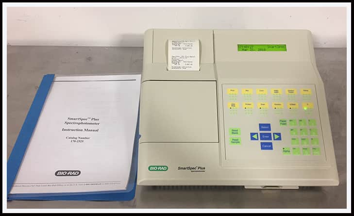 Bio-Rad SmartSpec Plus UV/Vis Spectrophotometer w WARRANTY
