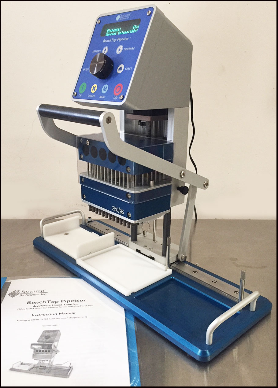 Sorenson BenchTop Pipettor Pipetting System w WARRANTY