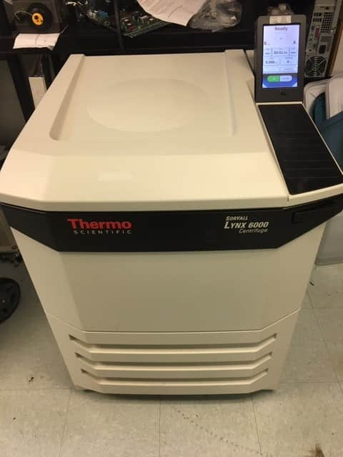 Thermo Sorvall LYNX 6000 Superspeed Centrifuge with Fiberlite rotor with Warranty