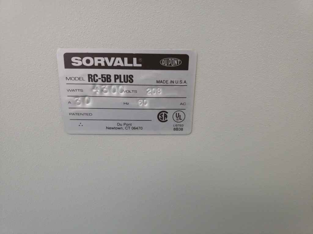 Floor centrifuge:  Sorvall RC-5B Plus - Very Good condition