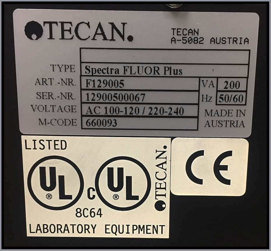 Tecan SpectraFluor PLUS Multi-Mode Microplate Reader w WARRANTY