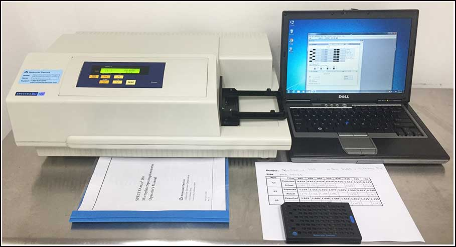 Molecular Devices SpectraMax 190 Microplate Reader w WARRANTY