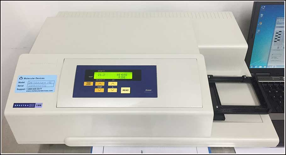 Molecular Devices SpectraMax 190 Microplate Reader w WARRANTY
