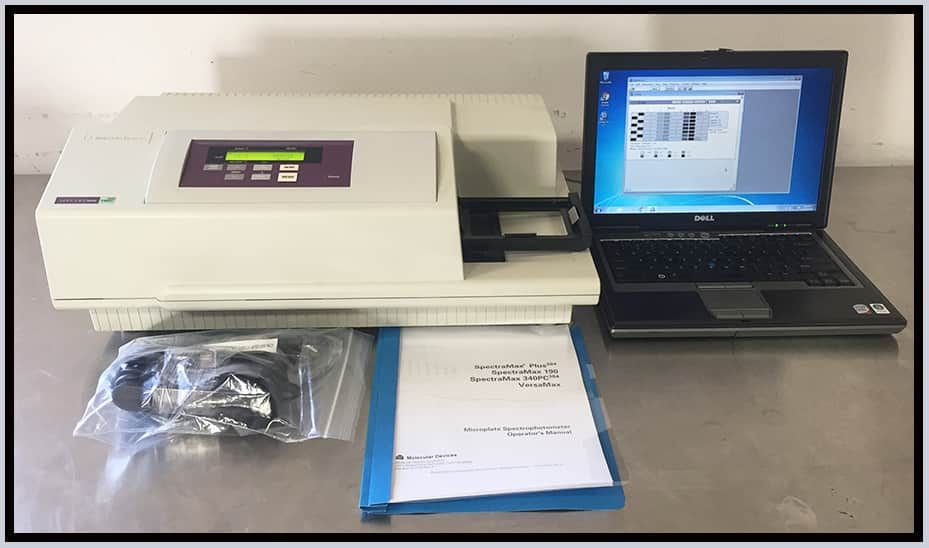 Molecular Devices SpectraMax 340 PC 384 Microplate Reader w WARRANTY