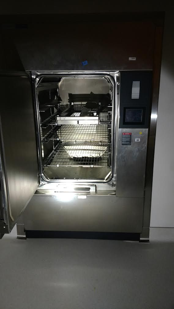 """Century Steris SV-148 with (26"""" x 37.5"""" x 48"""" d) chamber and double door autoclave"""