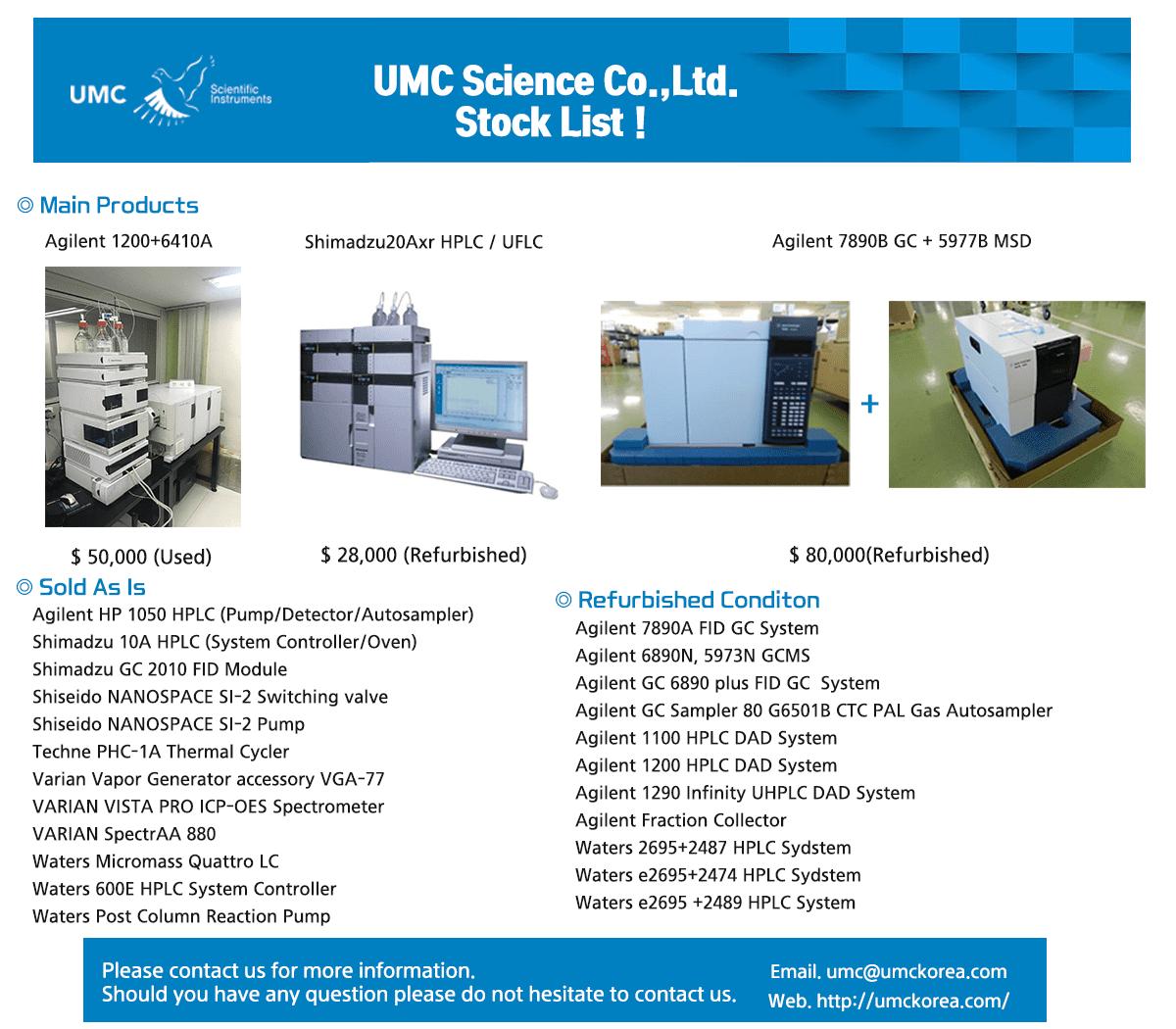HPLC, GC, GCMS (Analytical Instrument, Lab Instrument)